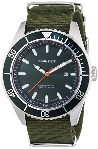 GANT Herren-Armbanduhr XL SEABROOK MILITARY Analog Quarz Nylon W70634