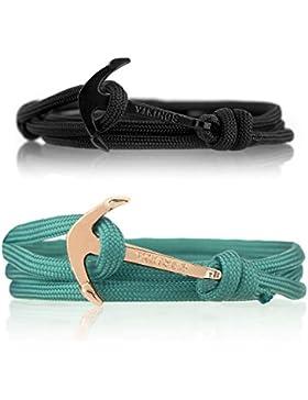 Vikings Anker-Armband Set für Sie & Ihn 2 Stück aus Nylon 6207