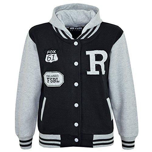 A2Z 4 Kids Enfants Filles Garçons R Fashion Fox Baseball Encapuchonné - B.B Jacket New Fox Grey 5-6