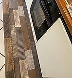 Teppich/Läufer aus PVC auf Metro (h. 50 cm x 100 cm) mit Holz-Optik, Rutschfest und super widerstandsfähig. Bestellen Sie die Ideale! Die bestellte Menge Wird in Einem Unikat geliefert!