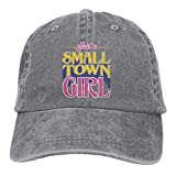 Presock JUST A Small Town Girl Cowboy Cap Unisex Adjustable Trucker Baseball Hat Gray