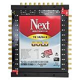 Multischalter - Next YE 10/24 s [PMSE 9/24 + Extra] mit Gold-Kontakten inkl. Netzteil Full HD, 4K tauglich