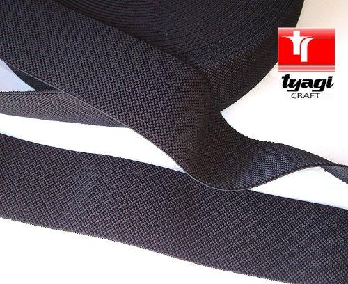 25mm-strong-thick-pattern-woven-elastic-strap-tape-elastic-webbing-for-belt-dress-making-black-tyagi