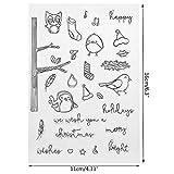 Mmnas Bonne Feuille de Joint Transparent de Silicone de Timbre pour l'album Bricolage de Carte d'artisanat Scrapbook