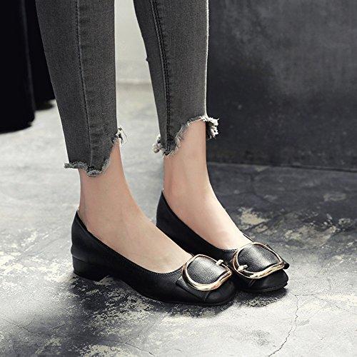 HAIZHEN Stivaletto Scarpe da donna Colori a tacco basso a punta quadrata  colori disponibili per ufficio