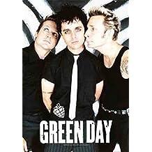 Heart Rock Bandera Original Green Day Band Póster, tela, multicolor, 110x 75x 0.1cm