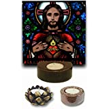 TYYC Christian Gifts, Loving Lord Jesus Christ Votive Tealight Candle Holder For Christmas Set Of 3