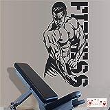 zqyjhkou Fitness Bodybuilding Wandaufkleber Gym Wandtattoos Fitness Aufkleber Bodybuilding Sport Abnehmbare Wandaufkleber 3a25 57x107cm