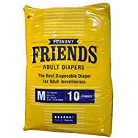 Friends Adult Diapers Economy Medium (10 Count)
