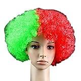 tifosi parrucca bandiera nazionale, World Cup Russia 2018costume cosplay per women-portugal