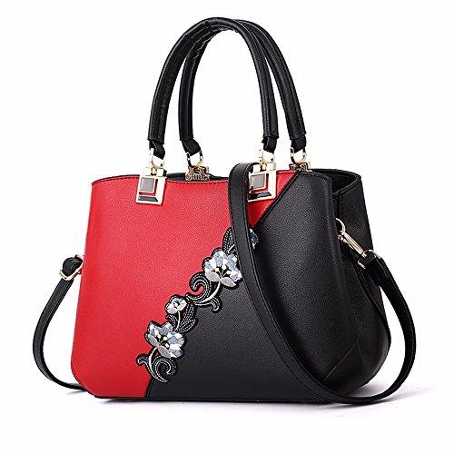 BMKWSG Damen Handtaschen Leder Umhängetaschen groß Top-Handle Bags Messenger Bag Umhängetasche...