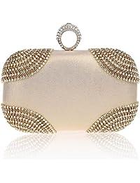 KAXIDY Femmes Sac Pochette Élégantes Sacs Soirée Pochette en Cristal Diamant Sac de Mariée Pochette de Soirée