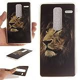 Guran® TPU Silikon Hülle für LG Class (H650E) / LG Zero Smartphone Gemalt Schutzhülle Cover-Löwe