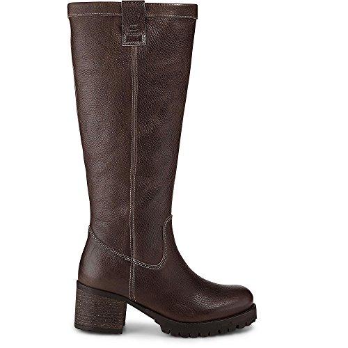 Cox Damen Gefütterte Langschaft Stiefel, Braune Lederstiefel mit extraweitem Schaft Braun Leder 39 (Jeans Braune Stiefel)
