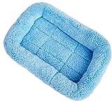 Xiaoyu inverno caldo e confortevole cane gatto da compagnia gatto dormire materassino letto per la casa per animali domestici/cuccia/gabbia/gabbia/letto a baldacchino, blu, M