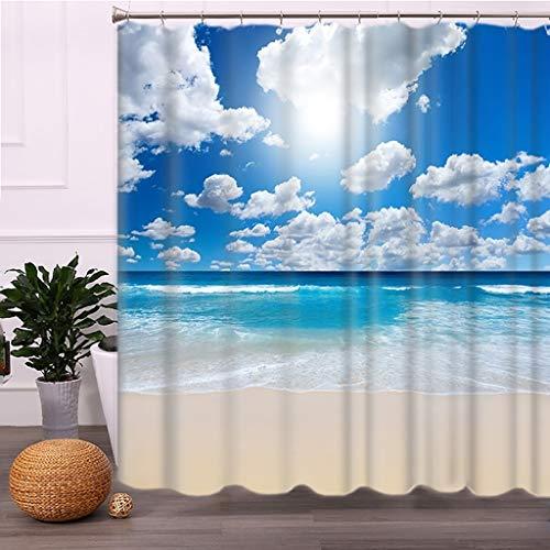 GJ-yl Europäische Partition Duschvorhang wasserdichte Verdickung Mehltau Polyester Duschvorhang Hängen Vorhang (Size : 300 * 200cm)