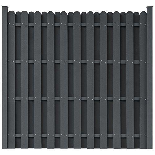 Zora Walter Panneau carré pour clôture en wPC Gris clôture jardin Panneaux Clôture Clôture Aiuole accessoires clôture Kit Clôture extérieur