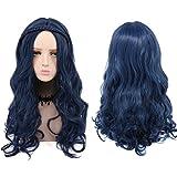Descendientes Evie trenzado de largo rizado sintético cosplay peluca