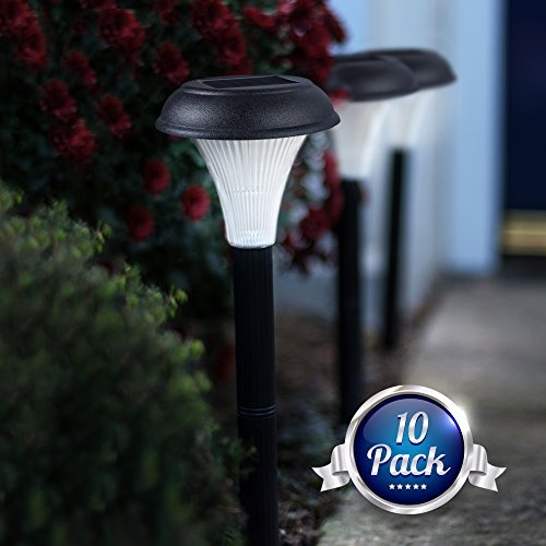 Set-of-10-Solar-Garden-Lights-Transform-Your-Outdoor-Spaces-Path-Flowerbeds-Borders-Drive-Easy-NO-WIRES-install-All-Weather-Waterproof-Stylish-Design-30cm-Tall-100-Money-Back-Guarantee