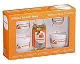 Wellness-Set 5-tlg. Honig Saunaduft Peelingsalz Peelingcreme Mentholkristalle
