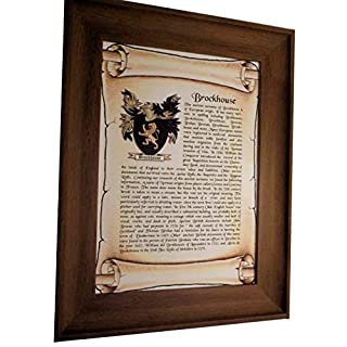 AGS-Designs FRAMED - SURNAME AND COAT OF ARMS - IDEAL PERSONALISED GIFT KEEPSAKE FOR SPECIAL OCCASION