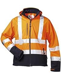 * proyecto * Hi-Vis chaqueta de Softshell, color naranja/Marino Elysee, en 471/3
