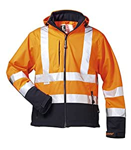 *BILL* WARNSCHUTZ SOFTSHELLJACKE ELYSEE ORANGE/MARINE EN 471/3