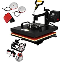 BuoQua 30.5x38cm Pressa Di Calore In Giallo Trasferimento Press 1400W  Pressa Per Cappellini T- e4738f9839a8