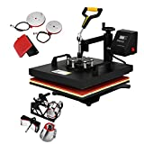 FORAVER 6 In 1 Heat Press Machine 15x15 inch Combo T-Shirt 360 Degree