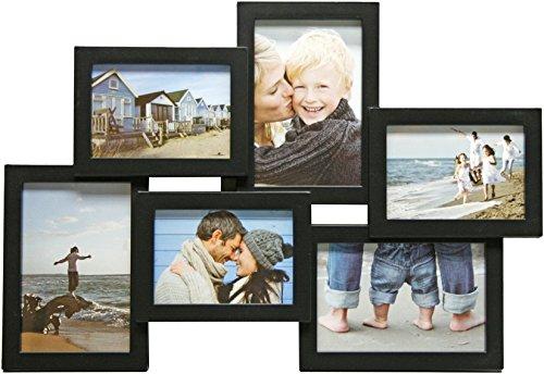 Henzo 8121108 Holiday Gallery 6 Frame Galerierahmen, Plastik, schwarz, 31,5 x 45,5 x 2,5 cm