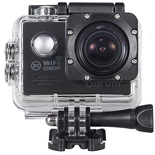 ODRVM Action cam WIFI Helmkamera HD 1080P Unterwasserkamera Digital Wasserdicht Kamera für Extremsport , Wassersport, Schwimmen, Surfen, Tauchen, Outdoor-Sportaktivitäten, Fahrrad, Auto DVR