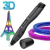 3D Penna, Aerb 3D Penna Stampa con Schermo LCD e Controllo della Temperatura, 8 Velocità 3D Pen Compatibile con PLA/ ABS Materiale Grande Regalo per Bambini Adulti artista