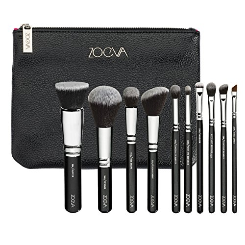 Zoeva - Juego de pinceles de maquillaje vegano, 104 Buffer + 106 Powder + 110 Face Shape + 128 Cream Cheek + 142 Concealer Buffer + 223 Petit Eye Blender + 226 S
