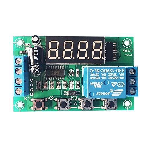 KKmoon Aufladung Entlastung Monitor Test Relay Switch Control Board Modul Gleichspannung 12V Monitor Relay