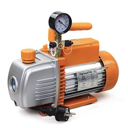 BACOENG 4.2CFM Zweistufige Vakuumpumpe Unterdruckpumpe mit Manometer HVAC Test