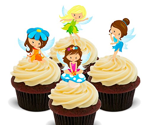 er, Motiv: Magische Feen – Stehende Kuchen-Dekoration, 24er-Pack (Cupcake Fancy Dress Outfit)