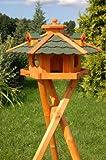Deko-Shop-Hannusch Nichoir à oiseau sur pieds en bois traité