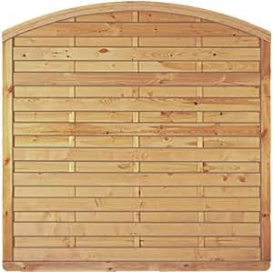 lot de 6 panneaux de cl ture en bois avec arche 180 x 160 cm h180 6 pack conomique. Black Bedroom Furniture Sets. Home Design Ideas