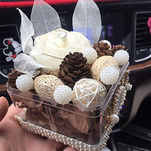 GBYJ Decoration Kreative Trockenblumen, zum des Autodekorationsautos auf dem Autozubehörauto zu schmecken, liefern Frauen