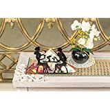 A Vintage Affair Metal Rectangular Tissue, Napkin Paper Holders (Black )