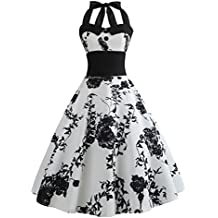 26dbbcd3ad64bd VEMOW Elegante Damen Damen Vintage Bodycon Sleeveless Halter beiläufige  Tanzabend Party Prom Brautjungfern Swing Dress Faltenrock