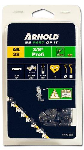 Arnold 1191-X3-5856 Sägekette 3/8 Zoll Profi, 1.5 mm, 56 Treibglieder, 38 cm Schwert -