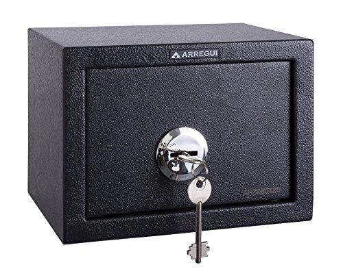 Arregui T17K Caja Fuerte de sobreponer sólo Llave.230x170x170mm, Gris Oscuro, 230 x...