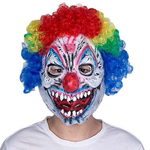 Mörder Kostüm Clown - C αγάπη Ζ Halloween Kostüm Lächelnder Mörder-Clown Halloween Clown Mask Latex Headgear