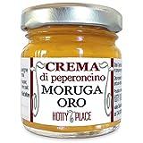 Crema MORUGA GIALLO Trinidad Scorpion Peperoncino Piccante ESTREMO - Miglior sapore tra i SUPER PICCANTI YELLOW valutati da Hotty Place vaso vetro 30g