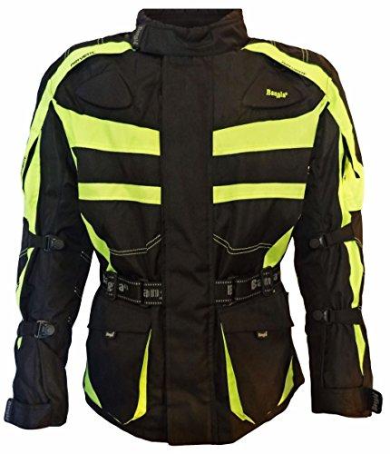 Bangla Kinder Motorradjacke Tourenjacke Textil 1152 Schwarz Neongelb 140