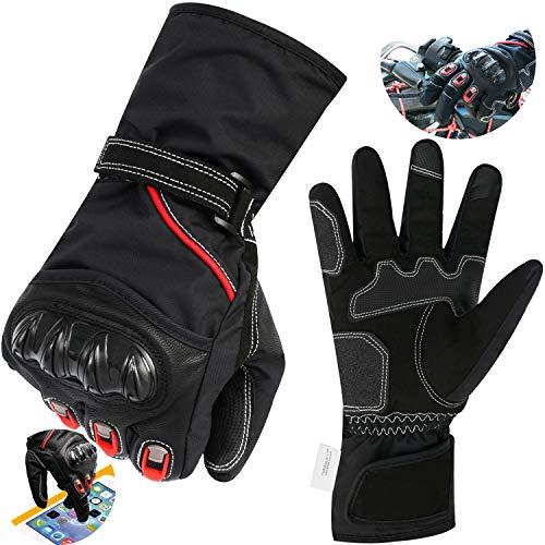 HJJH Stoßdämpfende Anti-Slip - Radfahren Offroad/Dirt Bike Handschuhe Road Racing Motorrad Winter Und Samt Touch-Erkennung Full Finger Handschuh (Unisex),L (Kawasaki Dirt Bike Handschuhe)