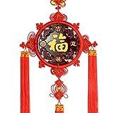 Fil de nylon tricoté à la main, noeud rond, décoration de vacances, décoration de voiture et décoration de la maison, rouge (style : A-4)...