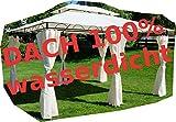 ASS Gartenpavillon Pavillon 3x4 Meter, 12m², Dach 100% wasserdicht und UV30+ Sonnenschutz, mit 6 Vorhängen, rechteckig von