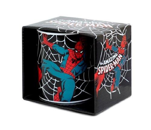 Marvel Comics - Spiderman Porzellan Tasse - Kaffeebecher - schwarz - Lizenziertes Originaldesign - LOGOSHIRT